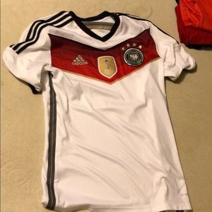 Adidas soccer jersey Germany used diga 2014 shirt